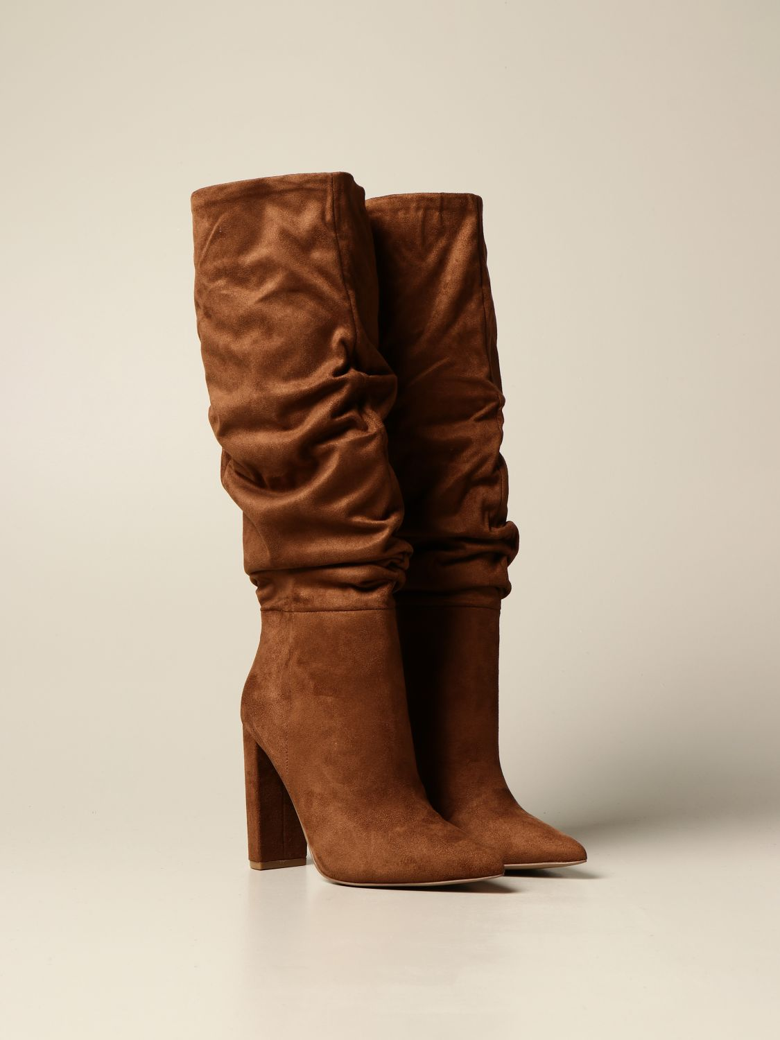 Boots Steve Madden: Steve Madden boot in synthetic suede brown 2
