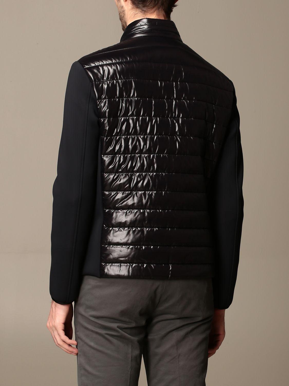 Hogan down jacket in bi-material nylon