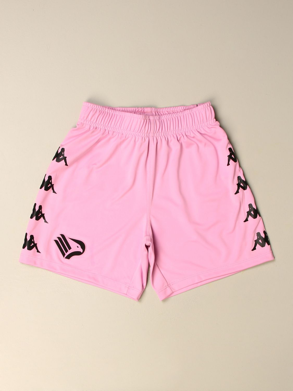Pantaloncino Palermo: Pantaloncino curcheta bambino Kappa gara Palermo in tessuto interlock rosa 1
