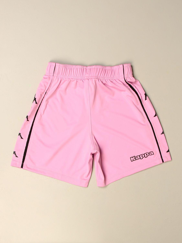 Pantaloncino Palermo: Pantaloncino curcheta bambino Kappa gara Palermo in tessuto interlock rosa 2