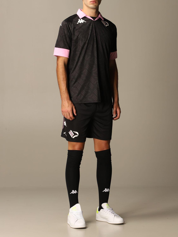 T-shirt Palermo: Maglia kombat palermo in tessuto interlock nero 2