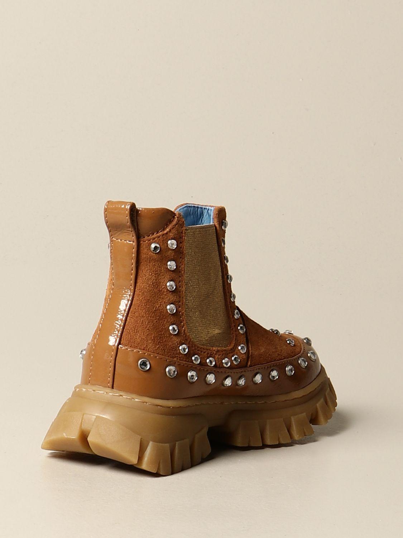 Shoes Mi Mi Sol: Mi Mi Sol ankle boot in suede and naplack camel 3