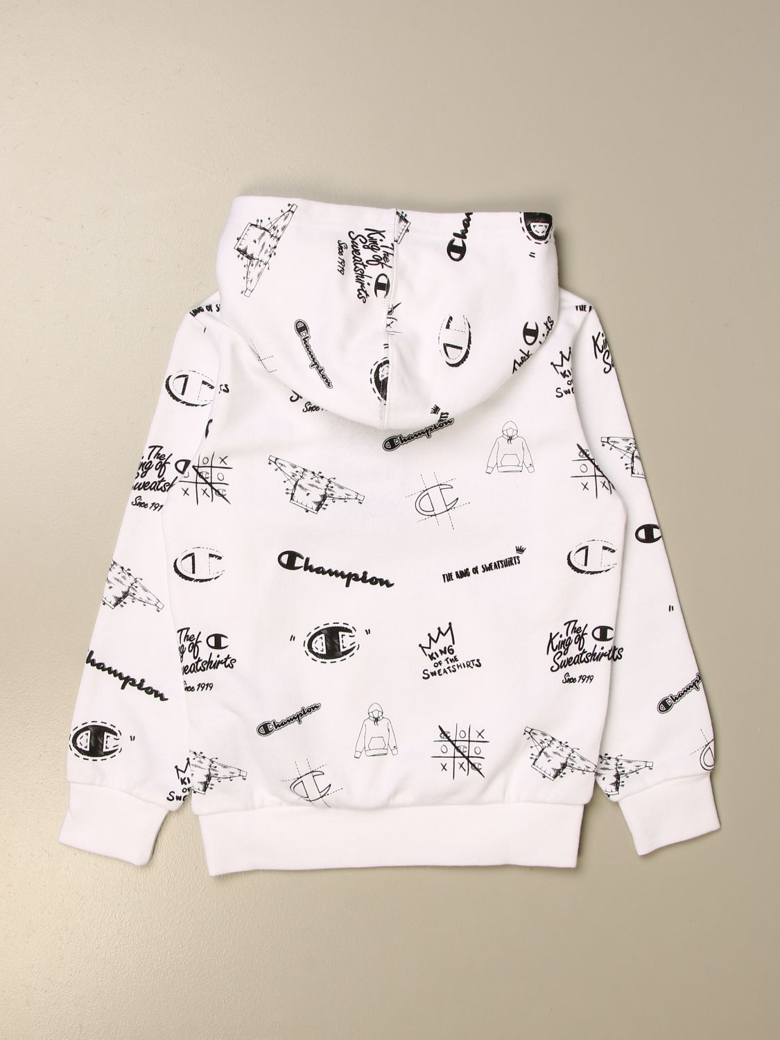 Sweater Champion: Champion cotton sweatshirt with all over logo white 2