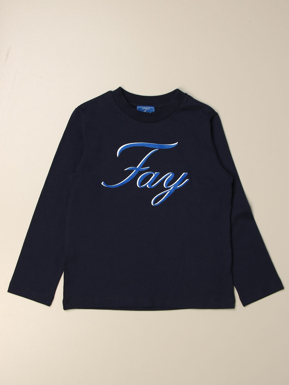 T-shirt Fay: Fay logo T-shirt blue 1