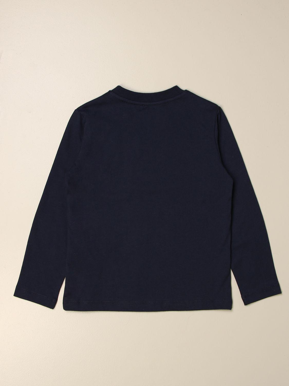 T-shirt Fay: Fay logo T-shirt blue 2
