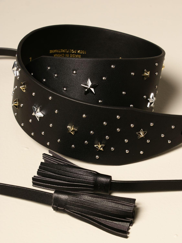 Belt Twin Set: Twin-set band belt with stars black 2