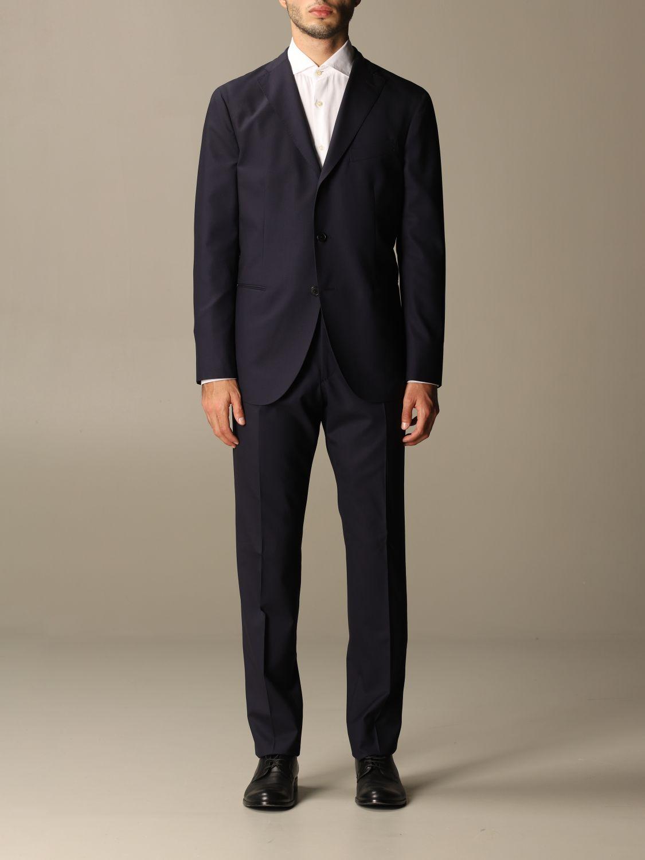 Suit Boglioli: Classic Boglioli single-breasted suit blue 1