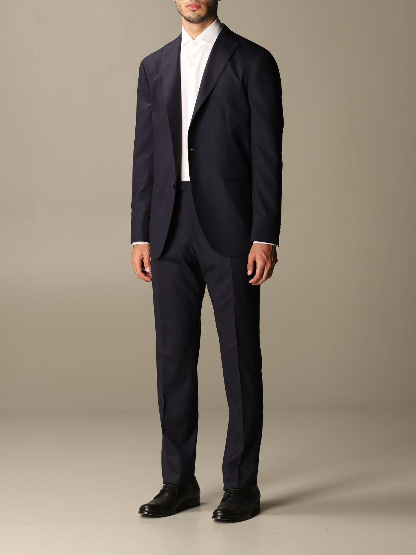 Suit Boglioli: Classic Boglioli single-breasted suit blue 3