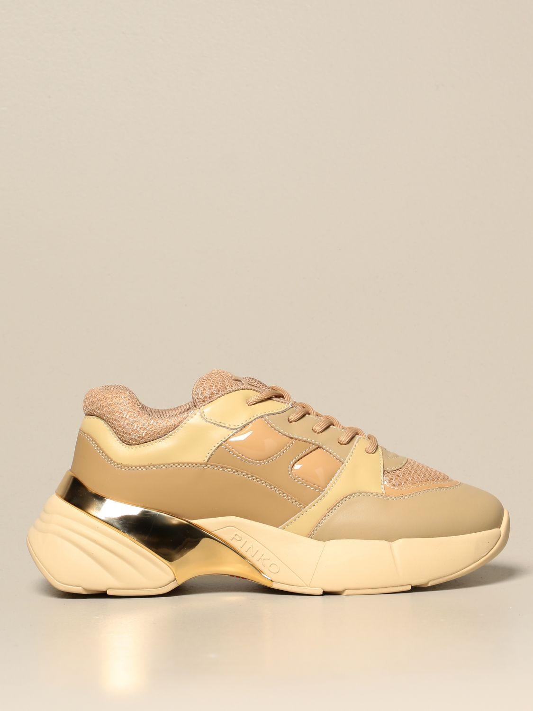 Sneakers Pinko: Rubino 4 Pinko sneakers in mesh and patent leather burnt 1