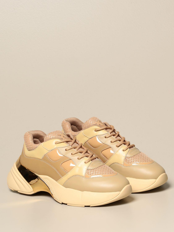 Sneakers Pinko: Rubino 4 Pinko sneakers in mesh and patent leather burnt 2
