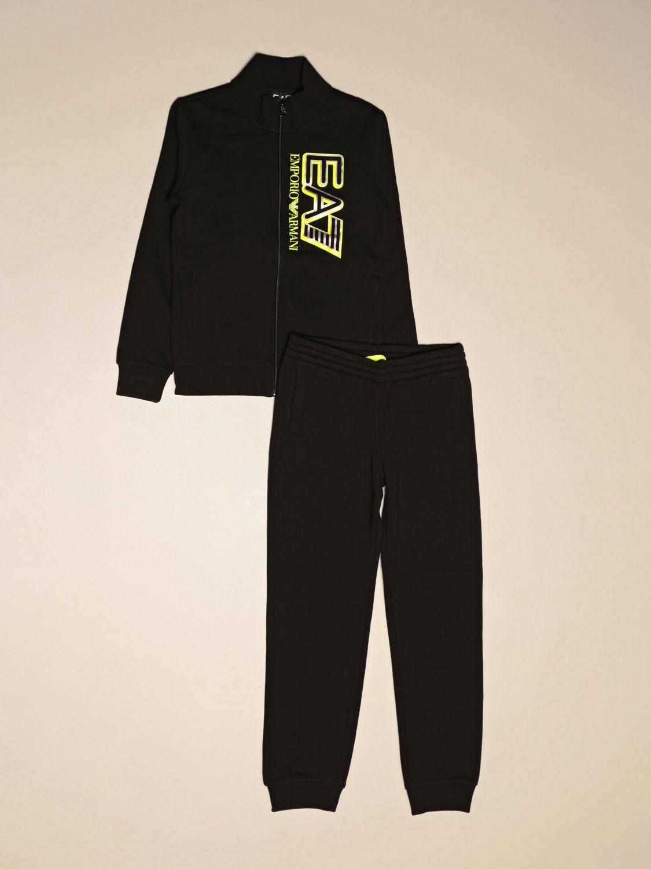 Tracksuit Ea7: Complete sweatshirt + EA7 trousers with logo black 1
