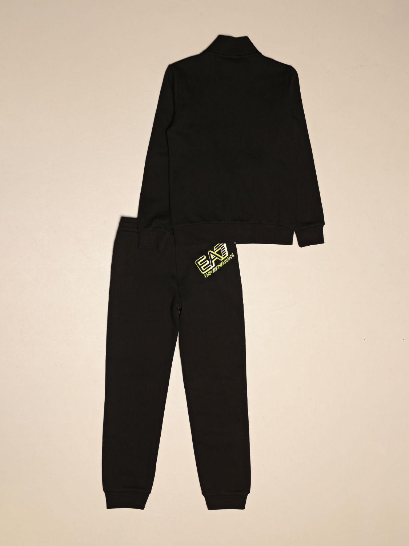 Tracksuit Ea7: Complete sweatshirt + EA7 trousers with logo black 2