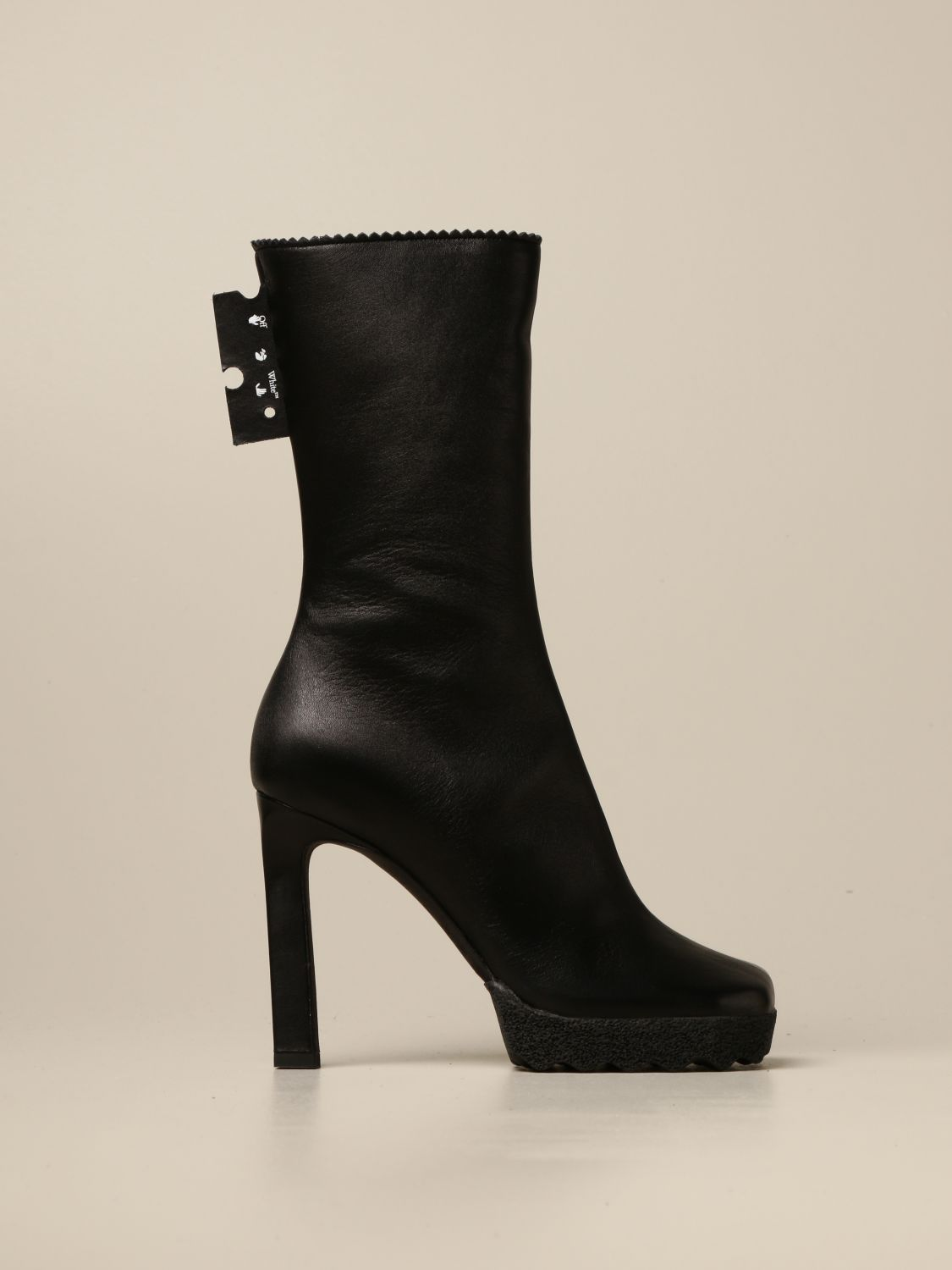 Off White ankle boots in nappa leather