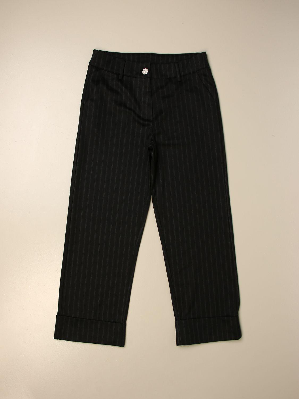 Pantalone Manila Grace: Pantalone gessato Manila Grace ampio fantasia 1