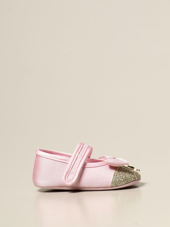 Scarpe Miss Blumarine: Ballerina Miss Blumarine con logo rosa 1