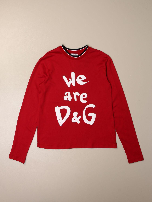 T-shirt Dolce & Gabbana: T-shirt kids Dolce & Gabbana red 1