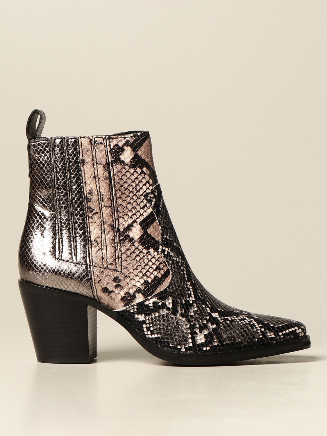 Boots Steve Madden: Geniva Steve Madden ankle boot in synthetic leather with python print multicolor 1