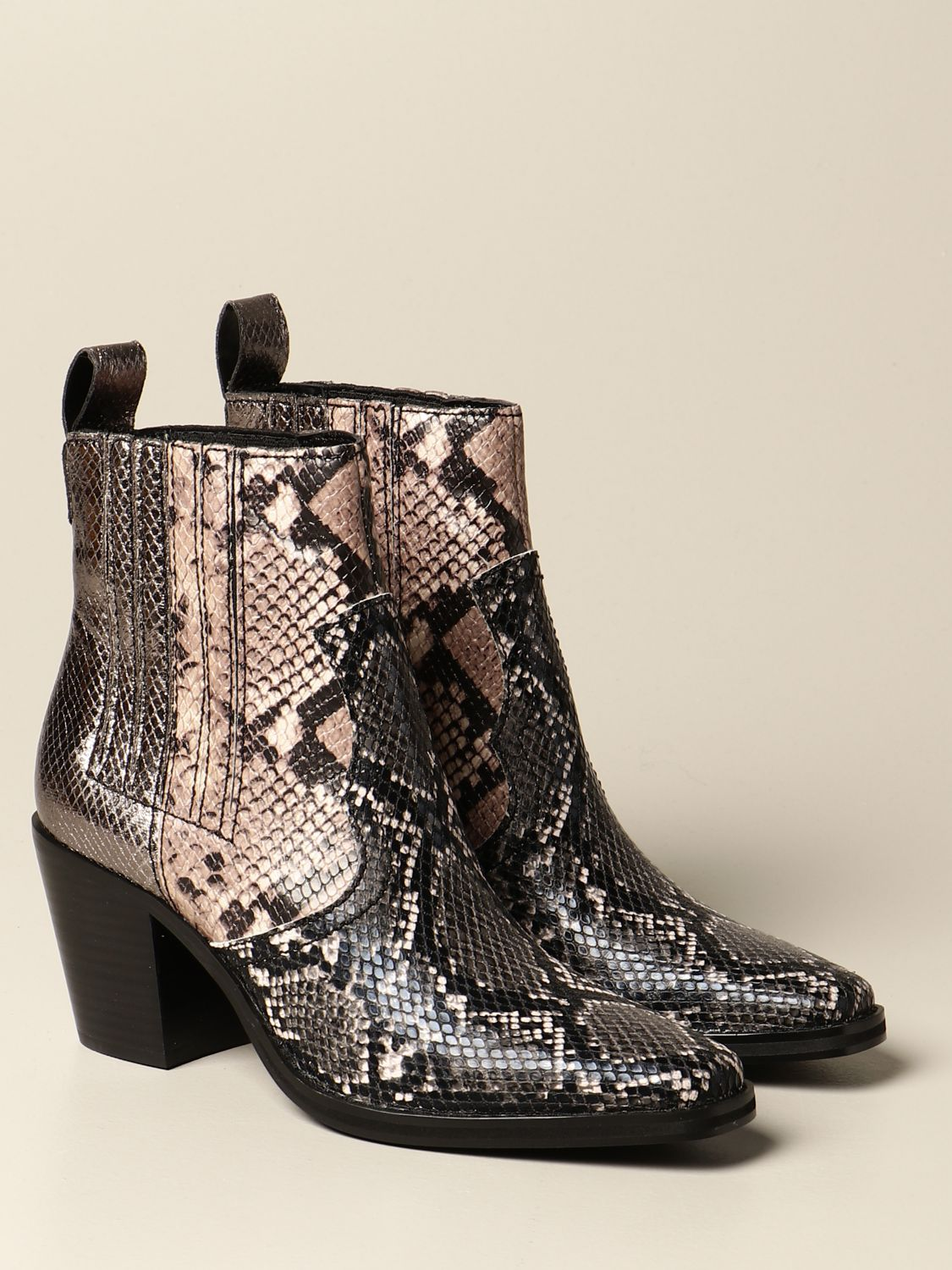 Boots Steve Madden: Geniva Steve Madden ankle boot in synthetic leather with python print multicolor 2