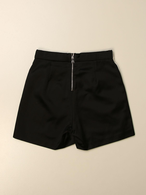 Pantalone Balmain: Pantaloncino Balmain in misto cotone bicolor nero 2