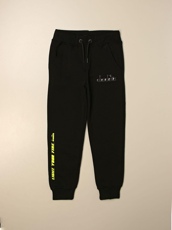 Pantalón Diadora: Pantalón niños Diadora negro 1