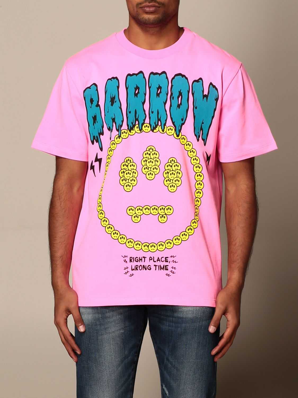T-shirt Barrow: Barrow T-shirt with smile and logo print pink 1