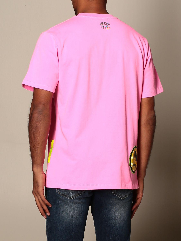 T-shirt Barrow: Barrow T-shirt with smile and logo print pink 2