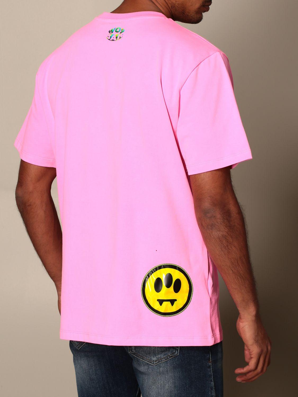 T-shirt Barrow: Barrow T-shirt with smile and logo print pink 3