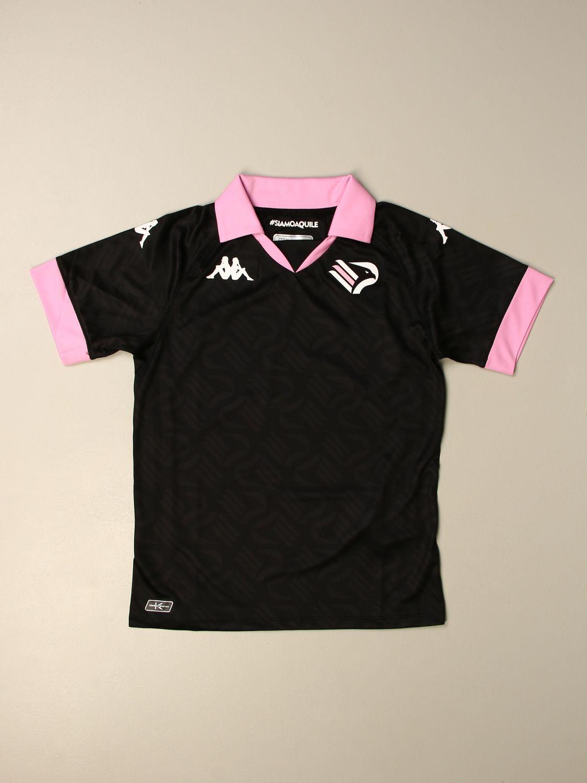 T-shirt Palermo: Maglia Kombat bambino da gioco Palermo in tessuto interlock nero 1