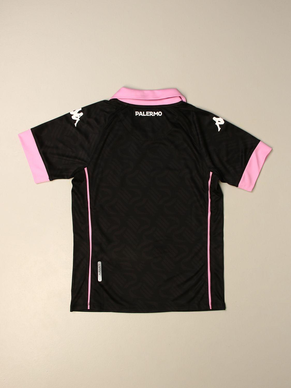 T-shirt Palermo: Maglia Kombat bambino da gioco Palermo in tessuto interlock nero 2