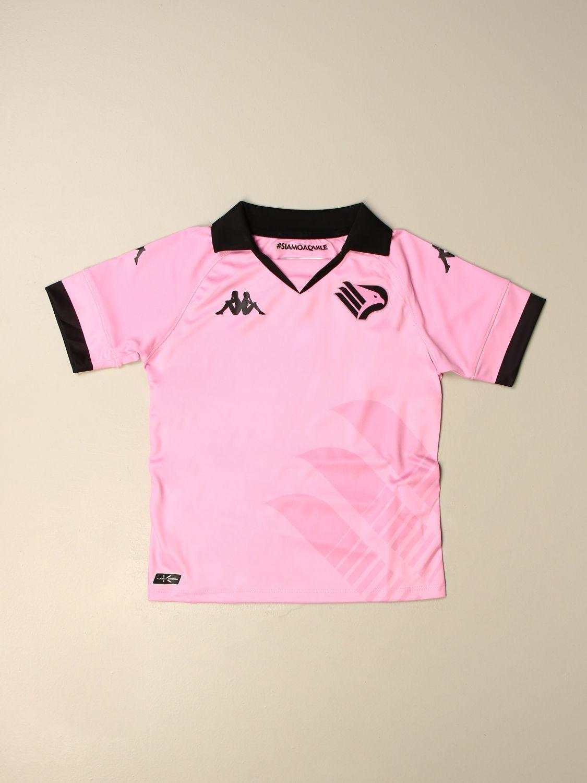 T-shirt Palermo: Maglia Kombat bambino da gioco Palermo in tessuto interlock rosa 1