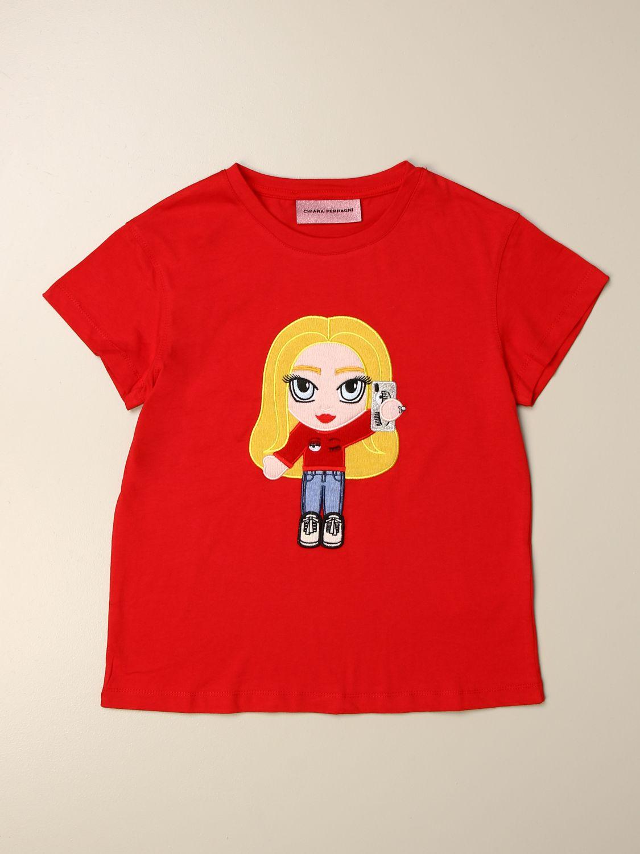 Camisetas Chiara Ferragni: Camisetas niños Chiara Ferragni rojo 1