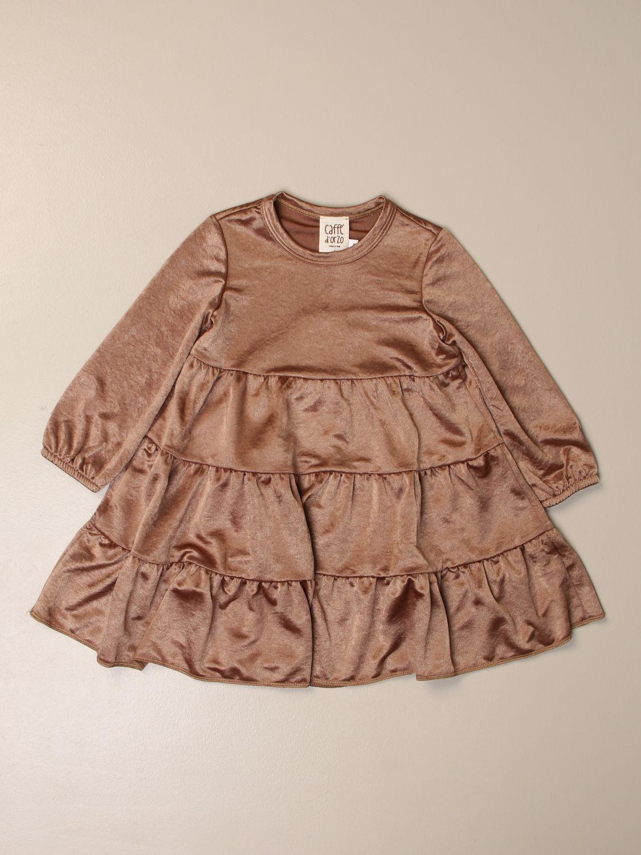 Платье Caffe' D'orzo: Платье Детское Caffe' D'orzo желто-коричневый 1