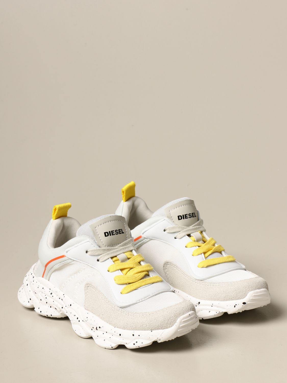 Zapatos Diesel: Zapatos niños Diesel blanco 2