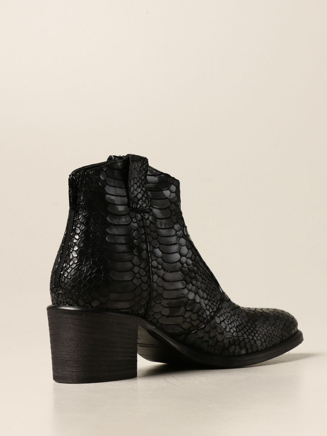 Flat ankle boots Strategia: Boots women Strategia black 1 3
