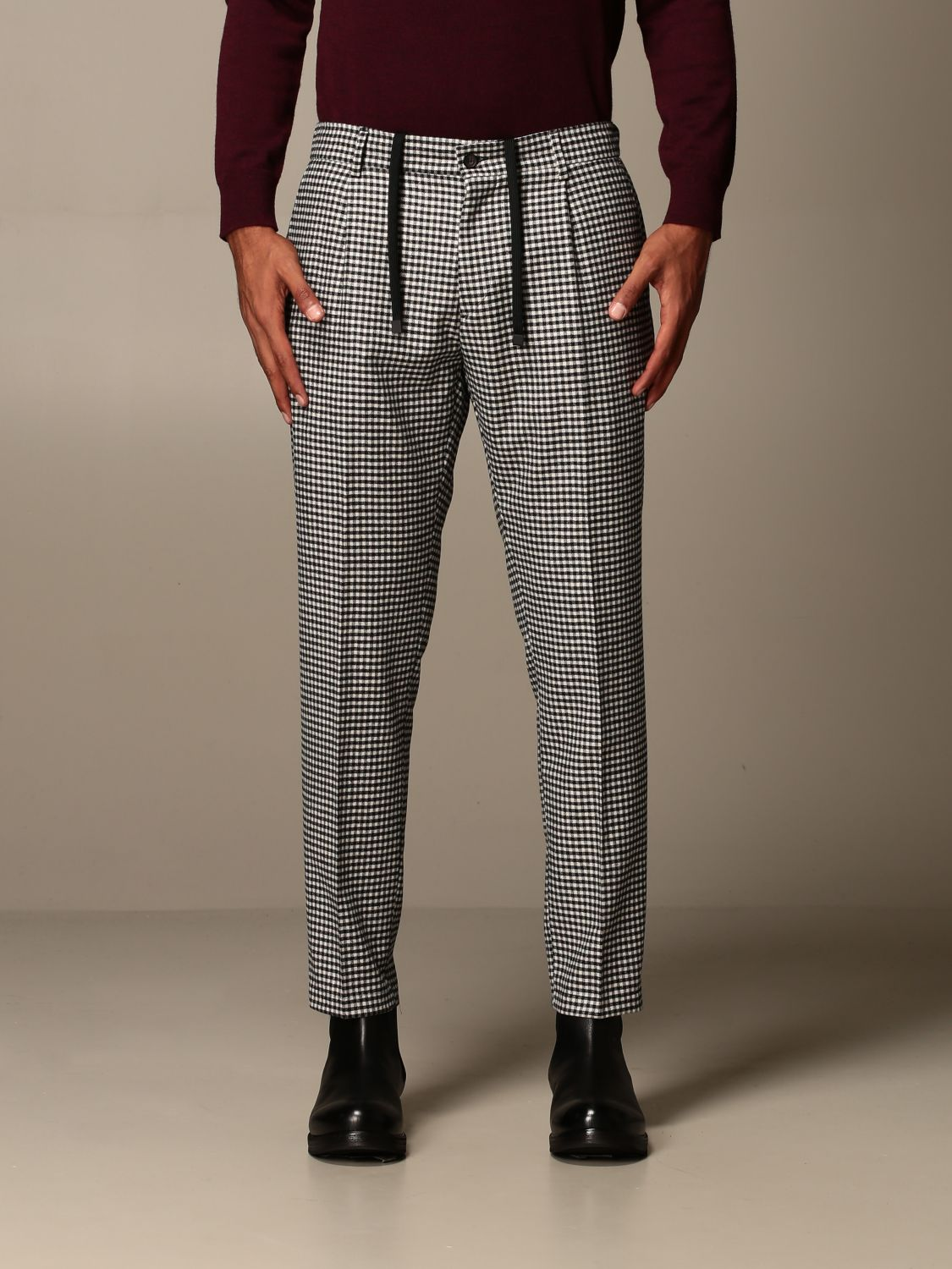 Pantalone Be Able: Pantalone Be Able con coulisse in lana e cotone fa01 1