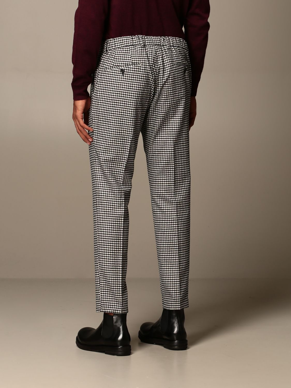 Pantalone Be Able: Pantalone Be Able con coulisse in lana e cotone fa01 2
