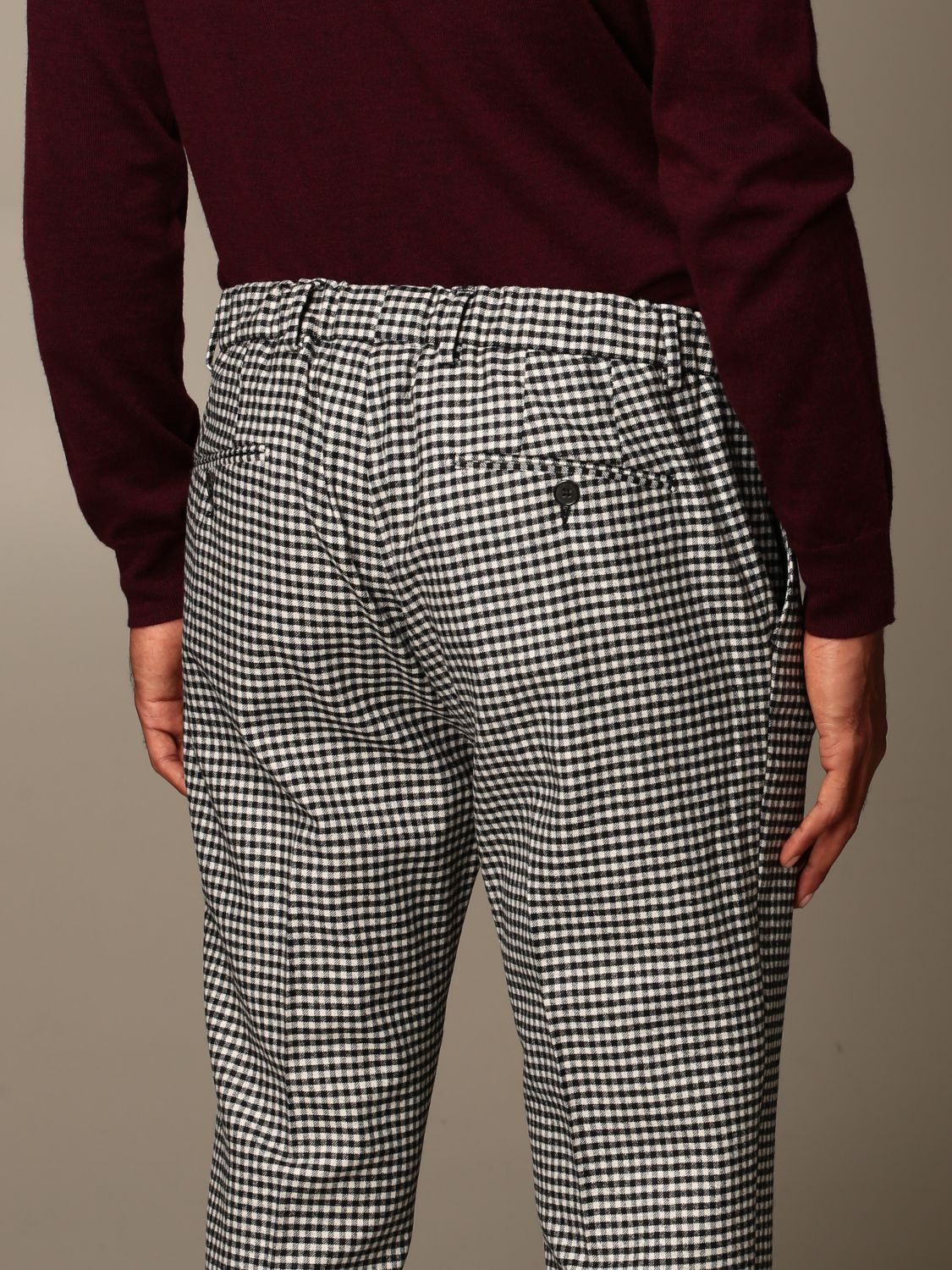 Pantalone Be Able: Pantalone Be Able con coulisse in lana e cotone fa01 3