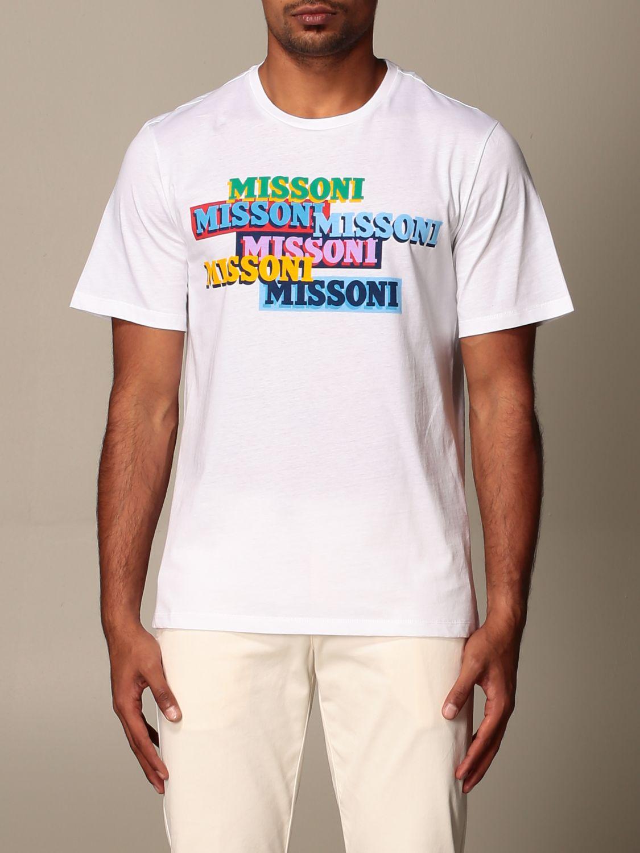 Camiseta Missoni: Camiseta hombre Missoni blanco 1