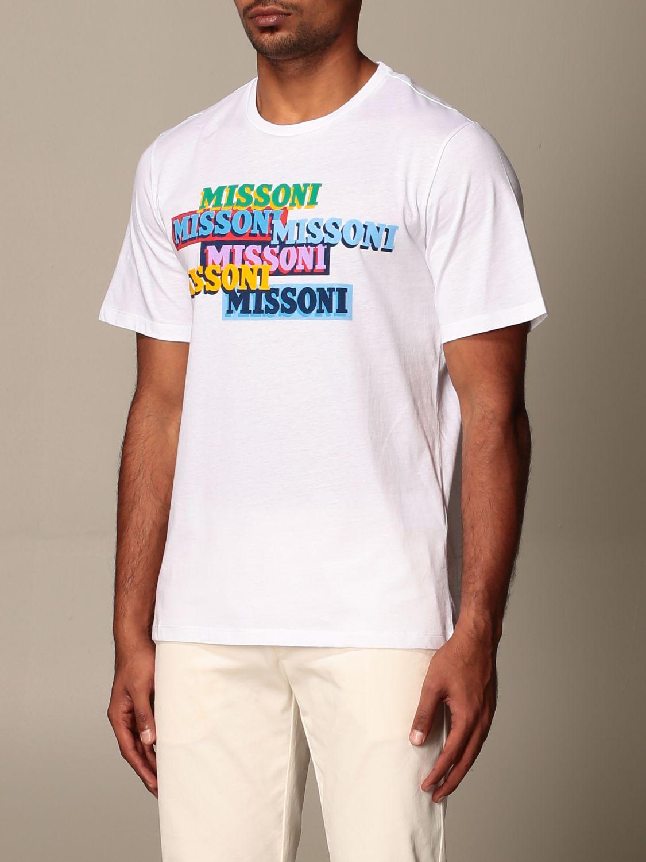 Camiseta Missoni: Camiseta hombre Missoni blanco 3