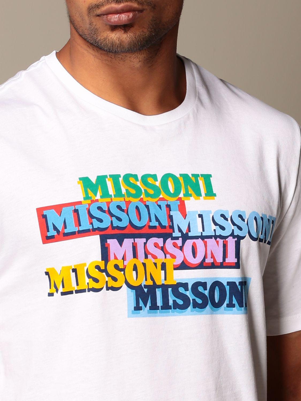 Camiseta Missoni: Camiseta hombre Missoni blanco 4