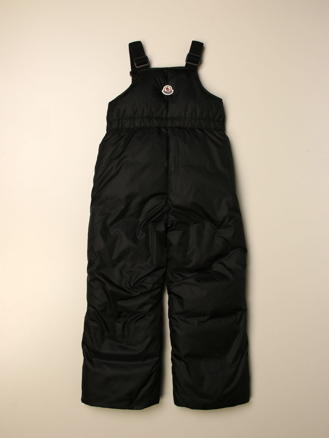 Pants Moncler: Padded and quilted Moncler nylon dungarees black 2