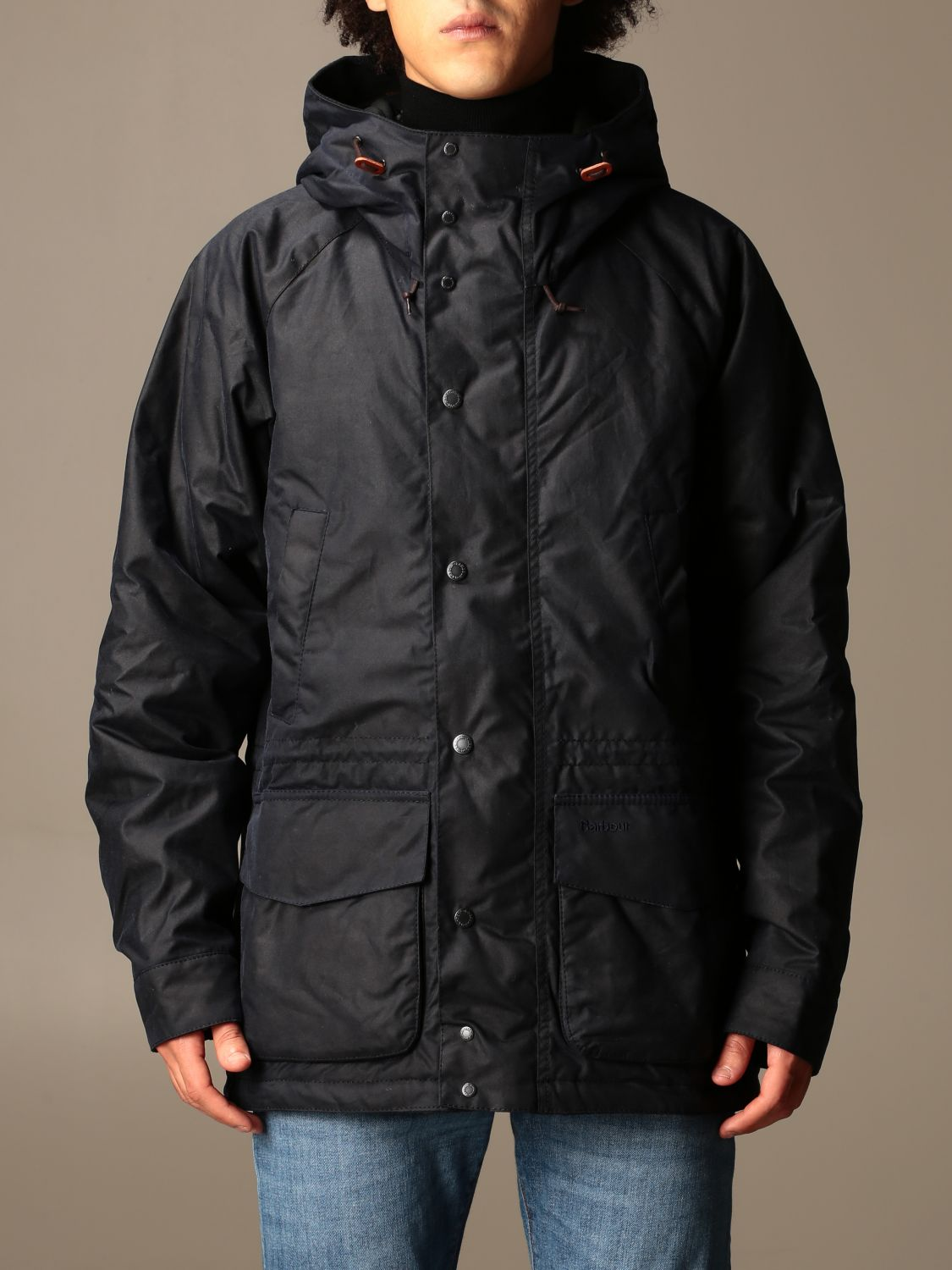 Jacket Barbour: Barbour nylon jacket with hood blue 1