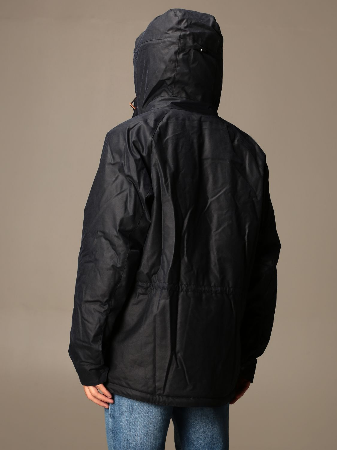 Jacket Barbour: Barbour nylon jacket with hood blue 2
