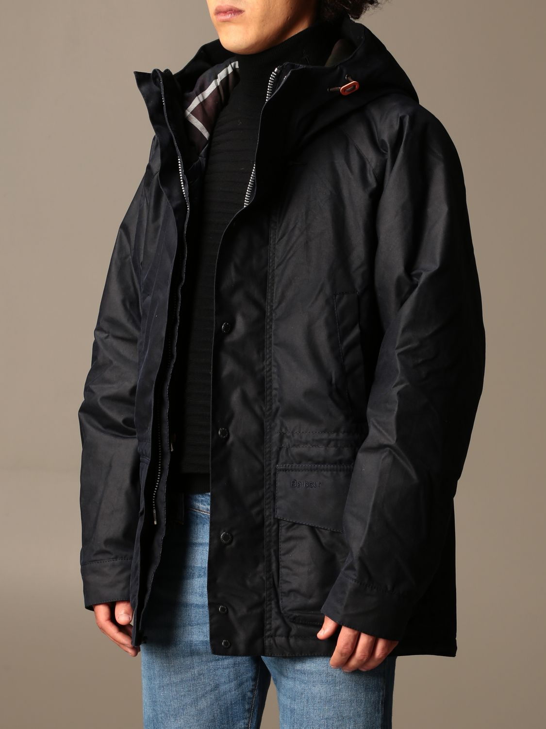 Jacket Barbour: Barbour nylon jacket with hood blue 3
