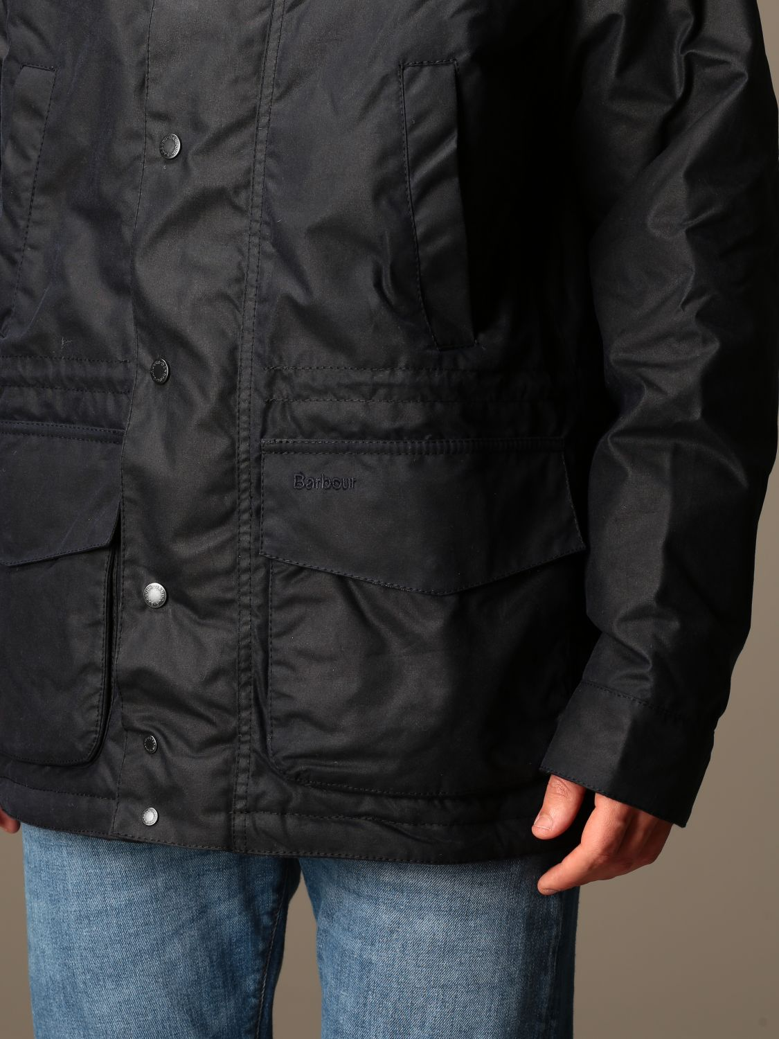 Jacket Barbour: Barbour nylon jacket with hood blue 4
