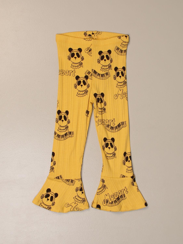 Pants Mini Rodini: Mini Rodini trousers with all over prints yellow 1
