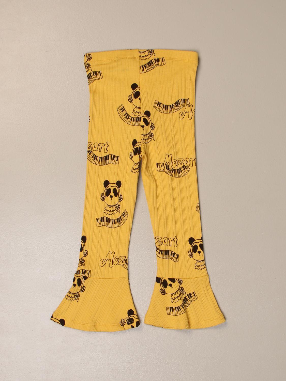 Pants Mini Rodini: Mini Rodini trousers with all over prints yellow 2
