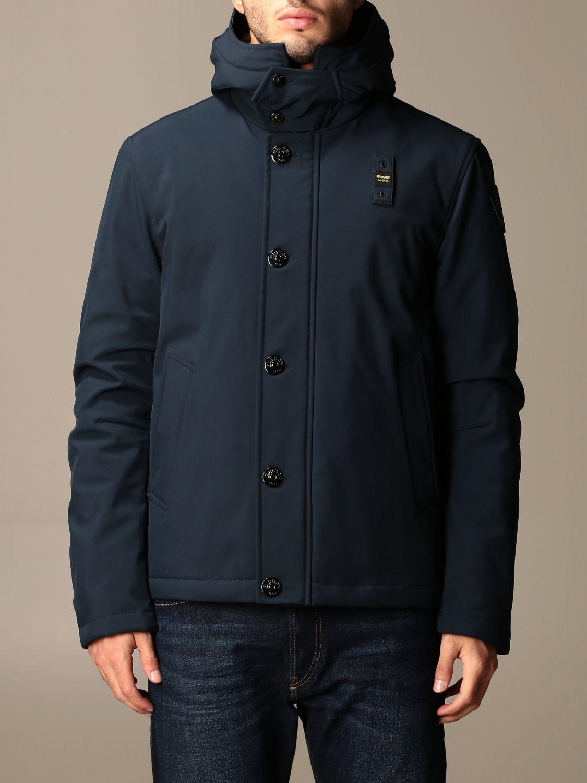 Jacket Blauer: Blauer jacket with hood and logo blue 1