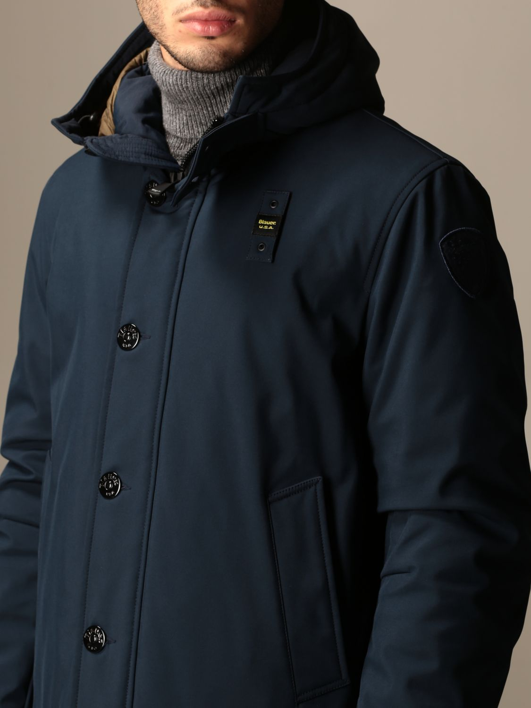 Jacket Blauer: Blauer jacket with hood and logo blue 3