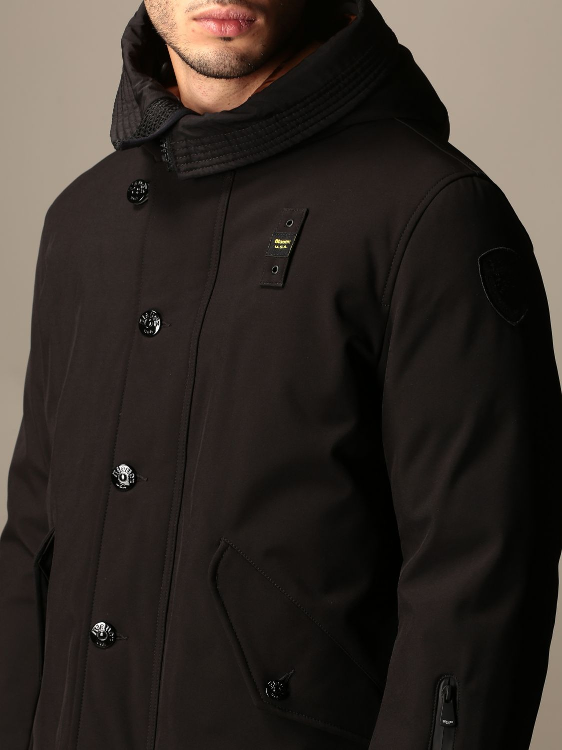 Jacket Blauer: Coat men Blauer black 4